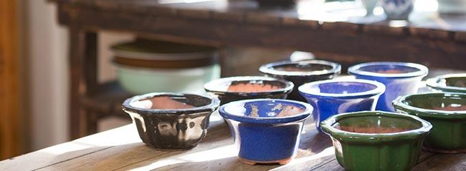陶器と美味しい家庭料理1